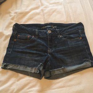 American Eagle cut-off cuffed denim shorts
